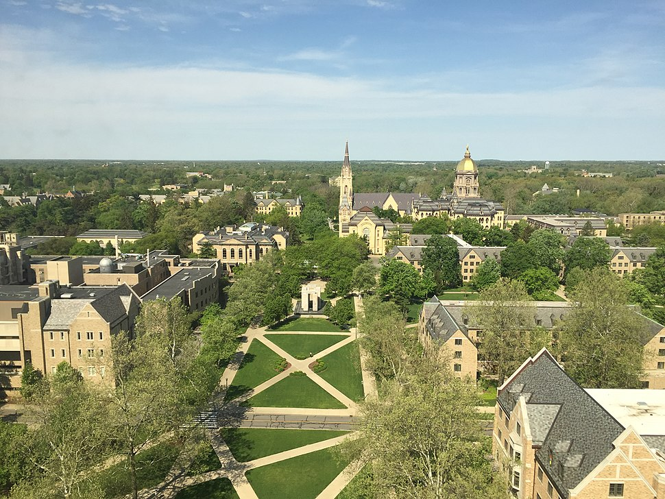 Notre Dame campus view
