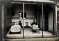 Nottingham; a verandah open to the air with a bed and a Wellcome V0030965.jpg