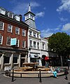 Nuneaton Clock Tower and fountain, 6.19.jpg