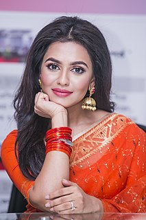 Nusraat Faria Bangladeshi film actress, model, television presenter and radio jockey .