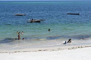 Nyali Beach from the Reef Hotel during high tide in Mombasa, Kenya 17.jpg