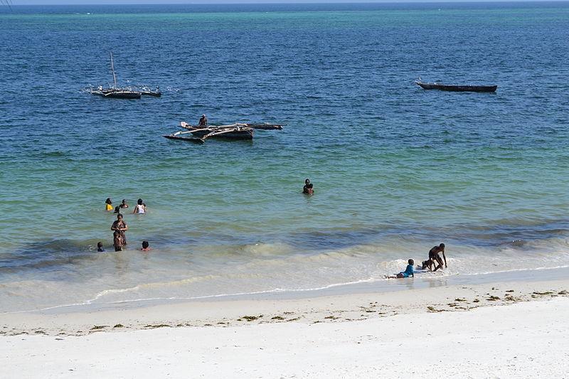 high tide beach