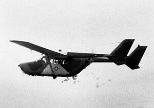 Cessna O-2 Skymaster - O-2B Skymaster dropping leaflets over Vietnam