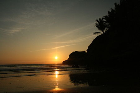 Sunset Beach Mompiche (Ecuador)