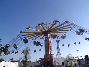 Swings at the Orange County Fair (California).