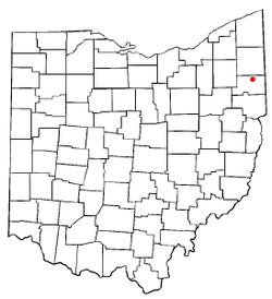 Location of Austintown, Ohio