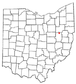 Location of Zoar, Ohio