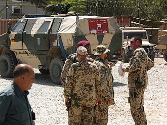 Operational Mentoring and Liaison Team - German OMLT soldiers OCCP (Operations Coordination Center-Provincial) Kunduz