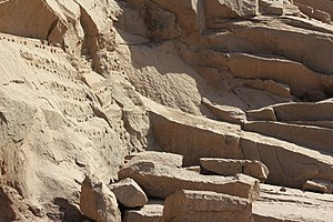 Unfinished obelisk - Image: Obelisk Quarry detail