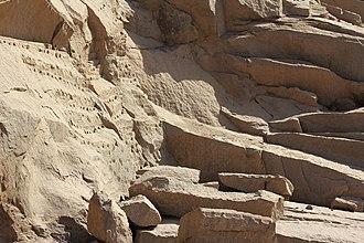 Unfinished obelisk - Image: Obelisk Quarry detail