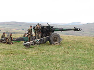 152 mm towed gun-howitzer M1955 (D-20) - M81 howitzer of the Romanian Land Forces.
