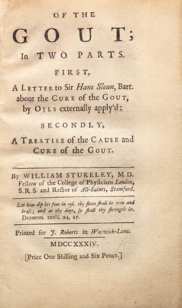 File:Of the Gout - Stukeley - 1734.djvu
