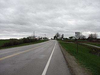 Ohio State Route 72 - Northbound near Sabina, Ohio