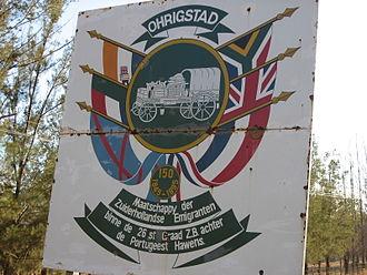 Ohrigstad - Historical sign at Ohrigstad