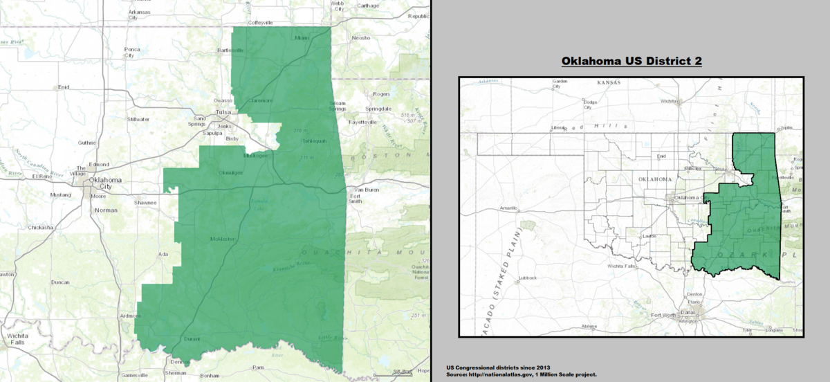 Oklahoma Congressional District Map With Th Congress US Rep - Us congressional district map