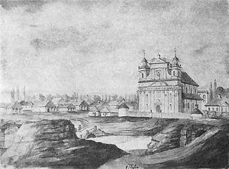 Olyka - Olyka watercolor by Napoleon Orda (1874)