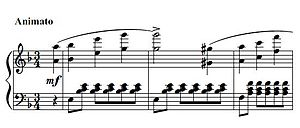 "Variations on the name ""Abegg"" - Opening measures"
