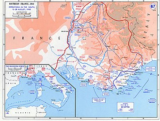 Operation Dragoon - Image: Operation Dragoon map