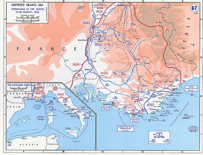 L'actu de la MARINE NATIONALE, de notre défense et de nos alliés /3 - Page 4 800px-Operation_Dragoon_-_map