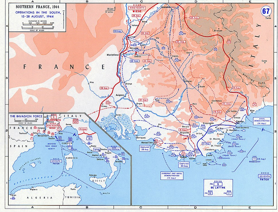 Operation Dragoon - map