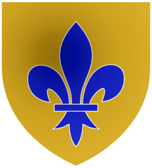 Sir William Portman, 5th Baronet - Arms of Portman:Or, a fleur-de-lis azure
