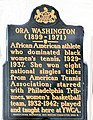 Ora Washington historical marker.JPG