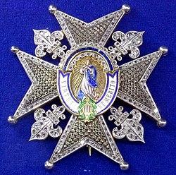 Order of Charles III star with diamonds (Spain 1936-1960) - Tallinn Museum of Orders.jpg