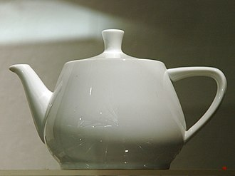 Utah teapot - The actual Melitta teapot that Martin Newell modelled, displayed at the Computer History Museum in Mountain View, California (1990–present)