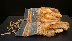 Orok people - Red fox fur mittens of the Orok people, 19th century