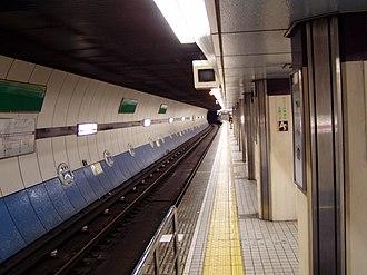 Abeno Station - Subway station platform