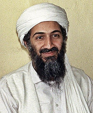 Osama bin Laden, first leader of al-Qaeda. Osama bin Laden portrait.jpg