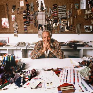 Ottavio Missoni Italian fashion designer, founder of fashion label Missoni, Olympic hurdler