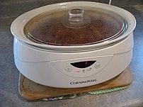 a w:slow cooker Oval Crock Pot