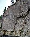 Overhanging Cliff Flow (Junction Butte Basalt, Upper Pliocene, 2.01-2.15 Ma; northeastern Yellowstone National Park, Wyoming, USA) 3 (19656053478).jpg