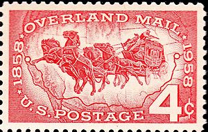 Butterfield Overland Mail - Image: Overland mail 1958 4c