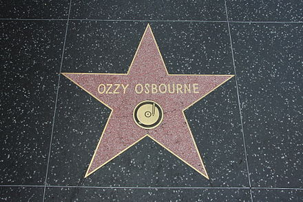 Osbourne's star at the Hollywood Walk of Fame in Los Angeles 27 April 2012 Ozzy-Walk-of-Fame.jpeg