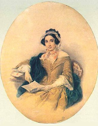 Count Karl Ludwig von Ficquelmont - Portrait of countess Dorothea de Ficquelmont, born Countess von Tiesenhausen