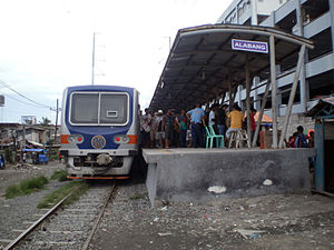 Alabang railway station - Alabang station without the side track in 2011.