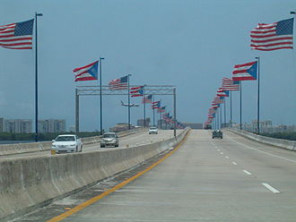 Luis Muñoz Marín International Airport - Teodoro Moscoso Bridge connecting the city of San Juan to the Luis Munoz Marin International Airport in Carolina
