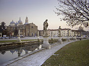 The Basilica of St. Giustina, facing the great piazza of Prato della Valle.
