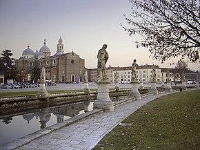 The Basilica of St. Giustina, facing the great piazza of Prato della Valle.