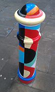 Painted Bollard, Winchester 15