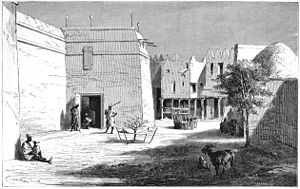 Ségou - Entrance to the palace of Ahmadu Tall at Ségou-Sikoro in around 1866