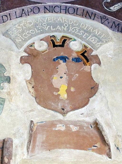 Palazzo vicariale di Certaldo, stemma de' Niccolini