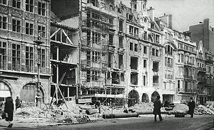 Operation Steinbock - The Pall Mall, London, after a Steinbock raid February 1944