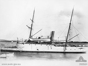 Colonial navies of Australia - HMQS Paluma in 1889