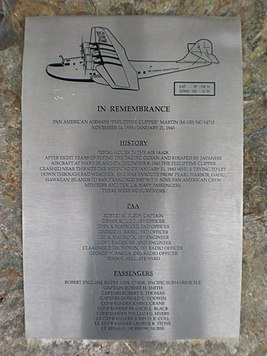 Pan American Philippine Clipper plaque.JPG