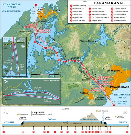 Panama Canal Map DE