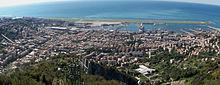 Veduta panoramica da nord dell'area di ubicazione della stazione meteorologica di Genova-Sestri Ponente