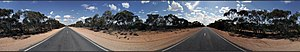 Mallee Woodlands and Shrublands - 360° panorama of Mallee Woodlands and Shrublands in northwest Victoria.